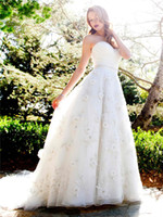 Wholesale 2014 Kenneth Winston Garden Wedding Dresses Perfect Crystal Wedding Gowns With Beads Handmade Flowers Organza Sexy Angel Wedding Sweep Train