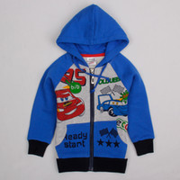 Boy 12/18m-18/24m-2/3y-3/4y- 4/5y Spring / Autumn A4111# Nova brand 2014 18m-6y baby boys cartoon car hooded hoodies children winter clothing grey blue fleece sweatshirts jumper jackets