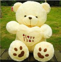 White valentines teddy bear - Beige Giant Big Plush Teddy Bear Soft Gift for Valentine Day Birthday