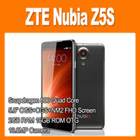 Wholesale ZTE Nubia Z5S NX503A Snapdragon Quad Core GHz Inch SHARP FHD Screen Android Smart Phone MP Camera GB GB WCDMA CDMA OTG