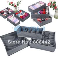 Wholesale New Foldable Bamboo Charcoal Organizer Storage Box Set For Bra Underwear Tie Socks