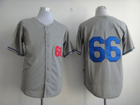 Cheap Los Angeles Dodger #66 Yasiel Puig Grey Mens Hot Brand Baseball Shirt 2014 New Arrival High Quality Cheap Embroidered Baseball Jerseys