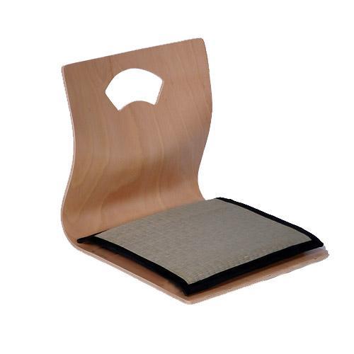 2017 zaisu tatami chair reversible seat cushion natural for Asian floor chair