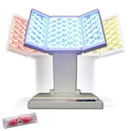 Venta caliente Personal PDT foto Dynamic Therapy LED Belleza luz de la máquina para el cuidado facial, rejuvenecimiento de la piel, eliminación del acné, 3 colores LED plegable