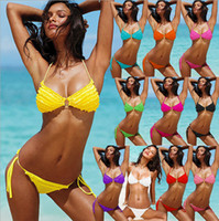 Hot new 2014 lady VS secret bikinis lace layer cake multicol...