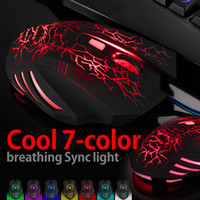 Wholesale HAVIT MS672 Color breathing Light DPI Optical Adjustable D Button Wired Gaming Mouse Game Mice Usb Mouse for Laptop PC