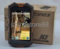 h5 phone - 4 Inch Hummer H5 IP67 MTK6572 Real waterproof dustproof Android Dual SIM card slots WCDMA G Smart Phone Shockproof GPS cell phone
