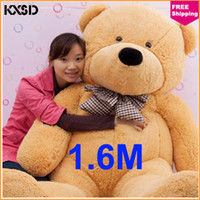 Teddy Bear Light Brown Plush 1.6M Wholesale Children Toy Good Doll Plush Toys Large Teddy Bear For Sale Giant Big Embrace Bear Doll Lovers Christmas Birthday Gift