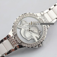 Wholesale HK Post Freeshipping newest for brand women lady G men wrist watch bangle stainless steel imitated diamond with gift box