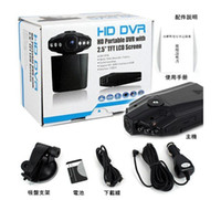 Wholesale 1pc car DVR wide angle degree rotation LCD IR night vision car black box