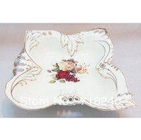 Wholesale porcelain fruit plate dessert plate candy plate decals dishes amp plates