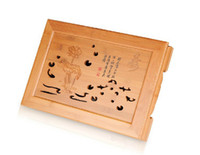 Cheap xiangfu bamboo drawer style 40*28*7.5 CM kungfu tea tray water storage traditional chinese tea board,Free shipping