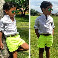 Wholesale Boy Suit Kids Sets Infant Outfits Baby Clothing Short Sleeve T Shirts Summer Shorts Boys Clothes Children Set Kids Suit Outfits Best Suits