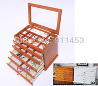 Wholesale princess fashion solid wood large multi layer jewelry box of jewelry jewelry display gift boxes necklace amp pendants caskets