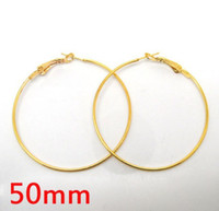 basketball wives earrings lot - pairs Gold Plated Basketball wives Earring Hoops Dangle Drop mm Dia