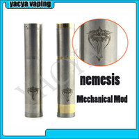 Single Golden, Silver Metal 1pcs lot 2014 new Vape Mod Nemesis Mod Mechanical Mod Stainless Steel Brass Nemesis Free shipping