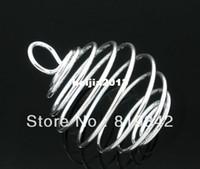 Envío gratis 20pcs/lote ilver Plateado Espiral de Bolas Jaulas Colgantes 29x24mm los Resultados de Joyería