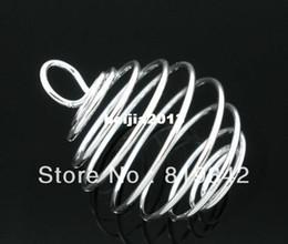 Descuento bola jaula Envío gratis 20pcs/lote ilver Plateado Espiral de Bolas Jaulas Colgantes 29x24mm los Resultados de Joyería