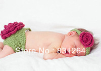Cheap 2014Free shipping newborn baby knitted crochet costume infant photography outfits crochet baby photo props