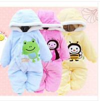 Cheap Wholesale-1PCS winter warm Baby romper baby One-Piece romper one-piece Hooded Cut animal jumpsuit clothing Free Shipping LT004