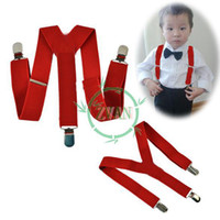Wholesale 5Pcs Children Kids Toddlers Fashion Clip on Suspenders Braces Elastic Pants Y back Adjustable