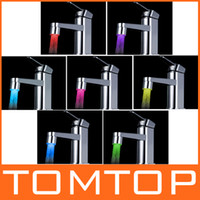 Wholesale 7 Colors Changing Glow LED Light Water Stream Faucet Tap H8523 C7