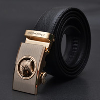 Wholesale Automatic buckle genuine leather belt men s cowhide leather belt business leisure waist belt styles buckle