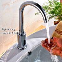 Cheap TB2015 # Bathroom Touchless Sensor mixer Automatic Hands Free Temperature control Hot & Cold basin faucet AC Battery tap spout