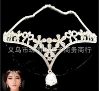 Wholesale High quality Fashion crystal diamond silver Bride accessories Royal Crowns Shiny bridal Wedding Bridal Jewelry New Style