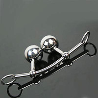 Cheap Female Chastity Belt Anal and vaginal Ball Plug Real stainless steel Bondage Gear Fethish Sex Toys