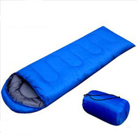 Wholesale outdoor camping sleeping bag g high quality hollow cotton filling envelope sleeping bag with hood for summer camping lunch break
