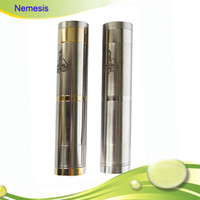 Electronic Cigarette Set Series stainless,gold Hottest Steam Atomizer SS Nemesis Mod Clone Mod use 18350 18650 battery Body Electronic Cigarette PK Chi you mod