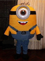Cheap New special Minions Costume Mascot figure despicable me character Adult Size Suit Christmas fancy dress,factory direct LLY317