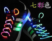 Wholesale low price Fiber Optic LED Shoe LACES LASERs SHOELACES NEON GLOW IN THE DARK STICK GADGET LIGHT