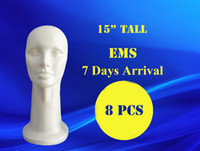 Wholesale 8pcs quot tall high density styrofoam mannequin manikin head foam head wig hat cap necklace microphone display cm