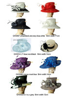 Wholesale Wide Brim Dress Sinamay Hat for Kentucky Dearby mix style and colors By EMS