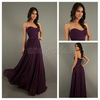 2014 Sweetheart Bridesmaid Dresses A- line Floor- Length Prom ...