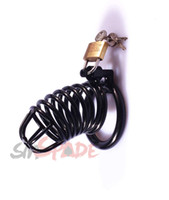 Wholesale two cages in one Short Male Chastity Lock Stainless Steel Metal Breathable Metal Chastity for Man Steel Wire Cage