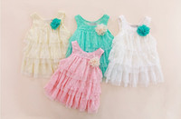 cute dress - Suspender Dress Kids Clothing Girls Cute Lace Layered Fashion Princess Dresses Baby Summer Tiered Dresses
