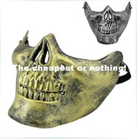 Wholesale Soldier Wargame Skeleton Skull Bone Airsoft Full Cover Face Protect Halloween Party Sport Protector Mask X83