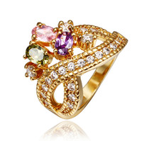 Wholesale Infinite Colourful Crystal Stone Ring Wedding Engagement Jewelry Best Gift of Love