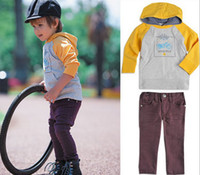 Wholesale Factory Clear Stock Children Clothing Spring Fall Baby Set Long Sleeve Hoodies Pants Boys Casual Sets Kids Suit