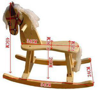 Wholesale All solid wood logs small horse toys children toys rocking horse baby horse rocking horse