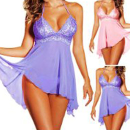 Wholesale Sexy lingerie Mermaid Halterneck Chemise Flowing Nightdress Nighty Bridal Wedding Babydoll women sexy costumes NQK015