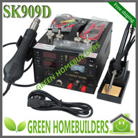 Hand Tool Parts Yes GHSK909D free shipping 3 in 1 Hot Air Rework Soldering Desoldering Station ( heat gun+welding+power supply ) 220V 110V