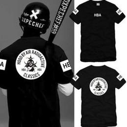 Free shipping Chinese Size S---XXXL summer t shirt Hood By Air RADIOACTIVE HBA t shirt Hba Classics tee shirt 6 color 100% cotton