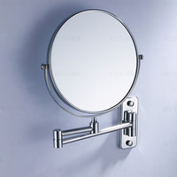 Wholesale copper with cheome plated Beauty mirror makeup mirror double faced bathroom hanging vanity mirror inch HR1826