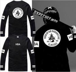 Free shipping new sale long sleeve t shirt Hood By Air RADIOACTIVE HBA t shirt Hba Classics tee shirt 6 color 100% cotton