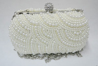 Wholesale 2013 fashion Women Pearl Evening Bag Diamond Clutch Gorgeous Bridal Bag women clutch bags handbags XP39
