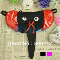 Cheap G-string Sexy Men's Thong Underwear T Pants The Elephant Nose 2Colors 14502